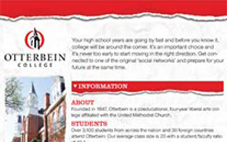 Otterbein University Direct Mail Piece