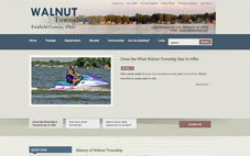 Walnut Township website done in Joomla
